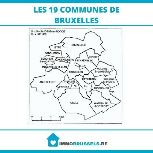 Les 19 communes de Bruxelles